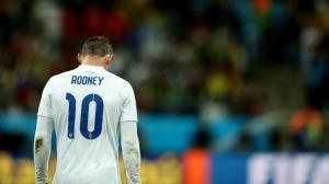 A dejected Wayne Rooney